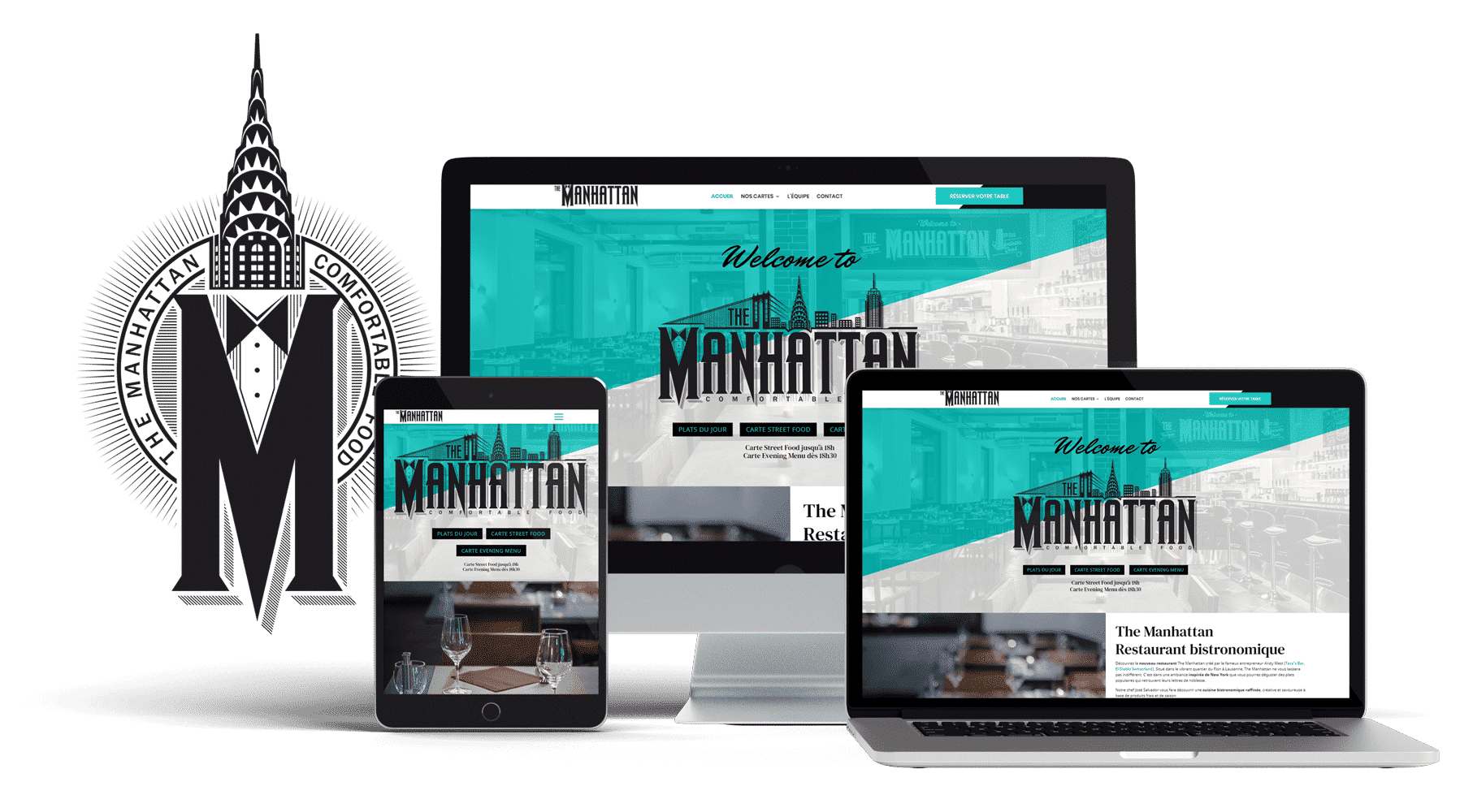 Site web The Manhattan responsive tablette smartphone pc